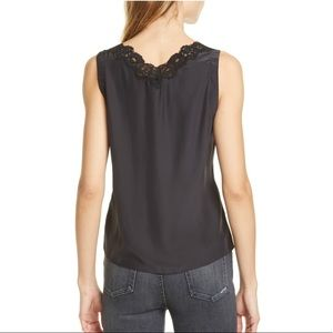 Rebecca Taylor Tops - Rebecca Taylor Silk & Lace Tank Top Black Large